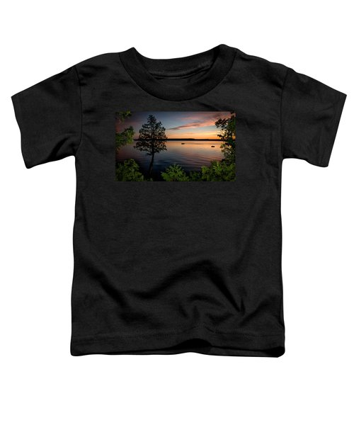 Toddler T-Shirt featuring the photograph Last Cast by Doug Gibbons