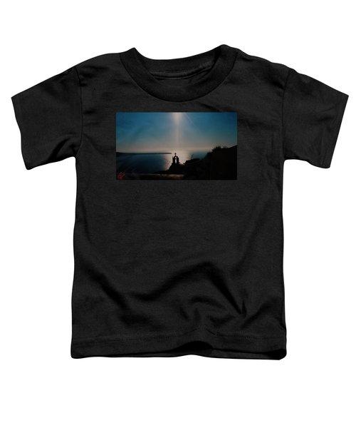 Late Evening Meditation On Santorini Island Greece Toddler T-Shirt