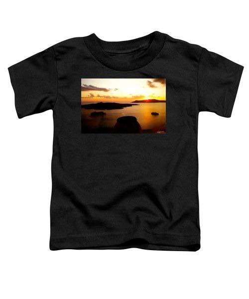 Late Sunset Santorini  Island Greece Toddler T-Shirt