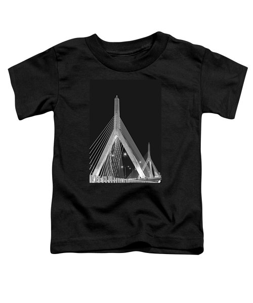 Leonard P. Zakim Bunker Hill Memorial Bridge Bw II Toddler T-Shirt