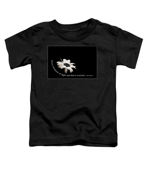 Light And Dark Inspirational Toddler T-Shirt by Bill Pevlor