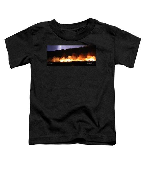 Lightning During Wildfire Toddler T-Shirt