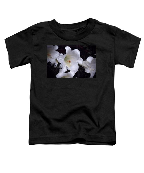 Lily With Rain Droplets Toddler T-Shirt
