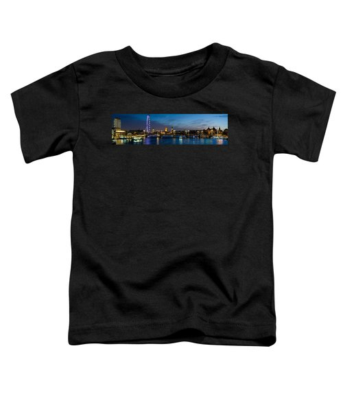 London Eye And Central London Skyline Toddler T-Shirt by Panoramic Images