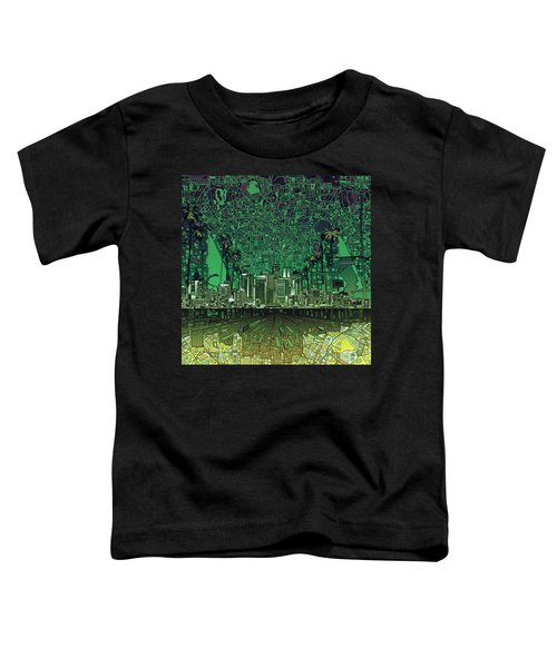 Los Angeles Skyline Abstract 6 Toddler T-Shirt by Bekim Art