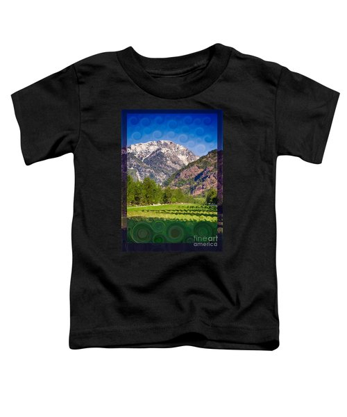 Lost River Airport Runway Abstract Landscape Painting Toddler T-Shirt