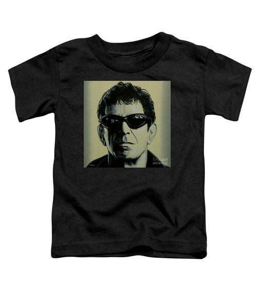 Lou Reed Painting Toddler T-Shirt by Paul Meijering