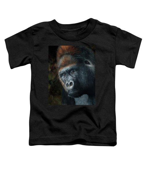 Lowland Gorilla Painting Toddler T-Shirt