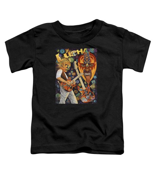 Lucha Rock Toddler T-Shirt by Ricardo Chavez-Mendez