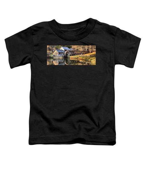 Mabry Grist Mill Fall Panorama Toddler T-Shirt