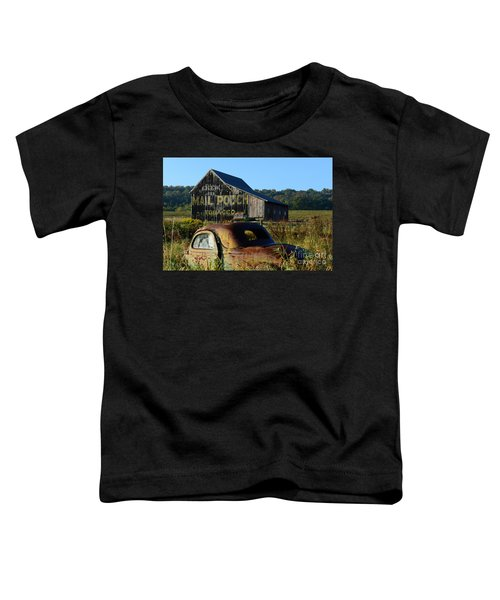 Mail Pouch Barn And Old Cars Toddler T-Shirt