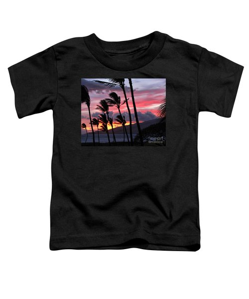 Maui Sunset Toddler T-Shirt by Peggy Hughes