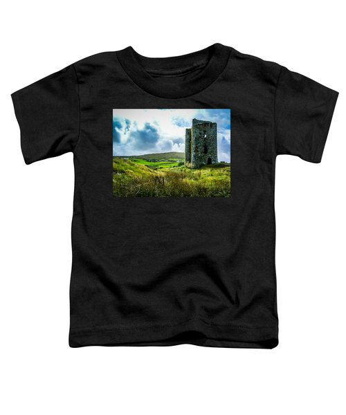 Toddler T-Shirt featuring the photograph Medieval Dunmanus Castle On Ireland's Mizen Peninsula by James Truett