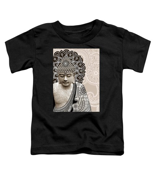 Meditation Mehndi - Paisley Buddha Artwork - Copyrighted Toddler T-Shirt