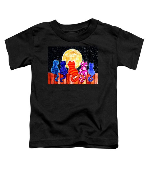 Meowing At Midnight Toddler T-Shirt