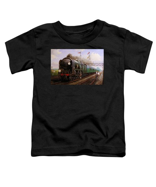 Merchant Navy Pacific At Brookwood. Toddler T-Shirt