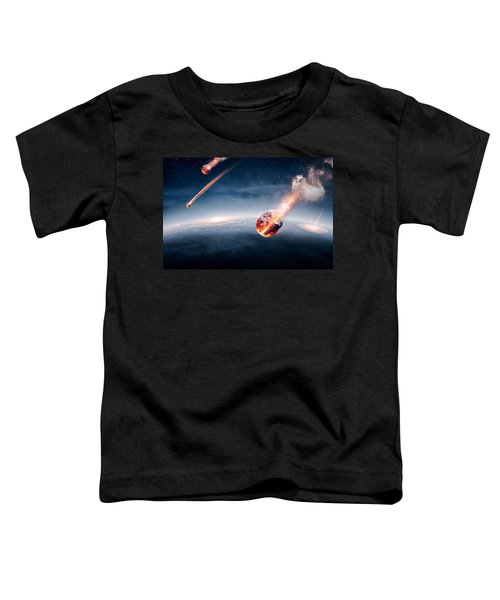 Meteorites On Their Way To Earth Toddler T-Shirt