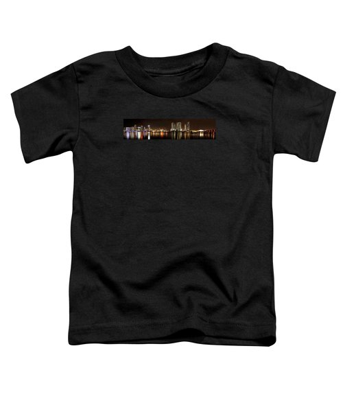 Miami - Skyline Panorama Toddler T-Shirt by Brendan Reals