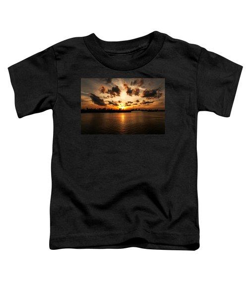 Miami Skyline Sunset Toddler T-Shirt