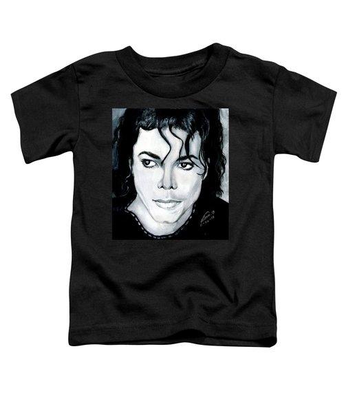 Michael Jackson Portrait Toddler T-Shirt by Alban Dizdari