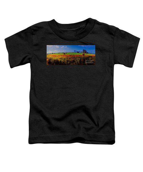 Michigan Uper  Farm Barn And Rolls Of Hay Brimly Michigan Toddler T-Shirt