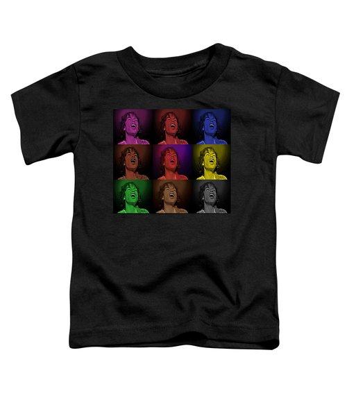 Mick Jagger Pop Art Print Toddler T-Shirt