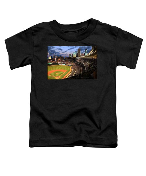Minnesota Twins Minneapolis Skyline Target Field Toddler T-Shirt