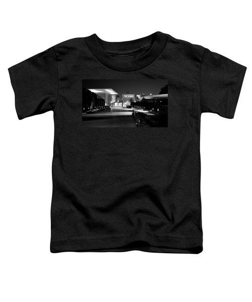 Modern Architecture Night Black White Toddler T-Shirt