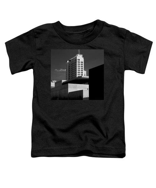Modern Art Deco Architecture Black White Toddler T-Shirt