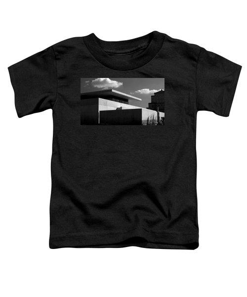 Modern Concrete Architecture Clouds Black White Toddler T-Shirt