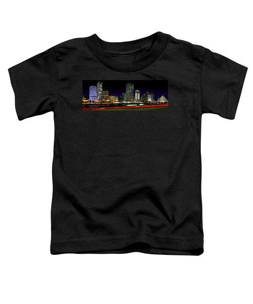 Modern Sao Paulo Skyline Near Brooklin District And Stayed Bridge Toddler T-Shirt