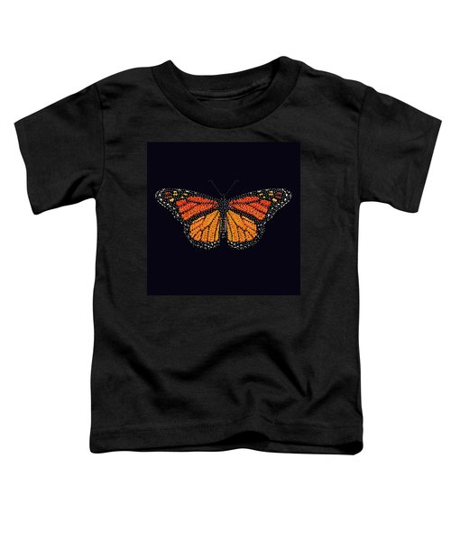 Monarch Butterfly Bedazzled Toddler T-Shirt