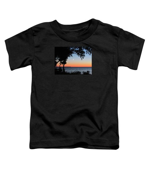 Moon Sliver At Sunset Toddler T-Shirt