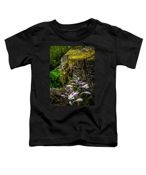 Toddler T-Shirt featuring the photograph Moss And Flowers In Markree Castle Gardens by James Truett