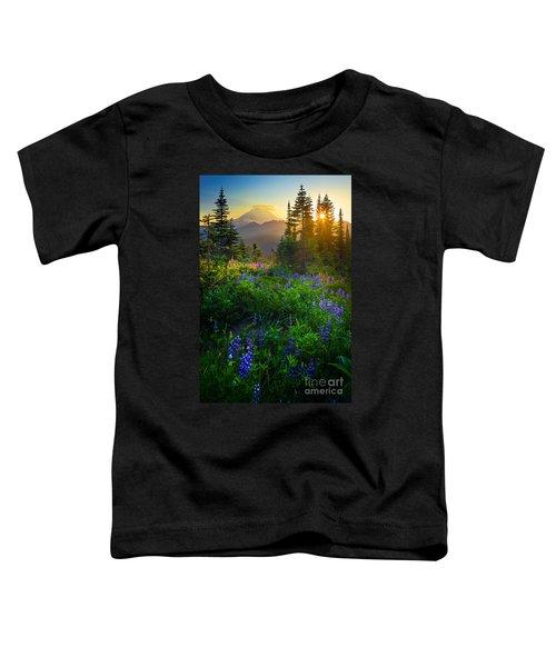 Mount Rainier Sunburst Toddler T-Shirt
