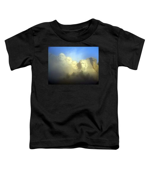 Mount Rushmore National Memorial Through The Fog  Toddler T-Shirt