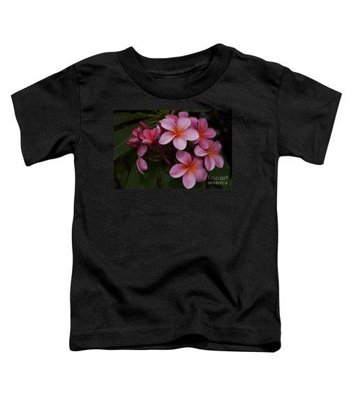 Na Lei Pua Melia O Wailua - Pink Tropical Plumeria Hawaii Toddler T-Shirt