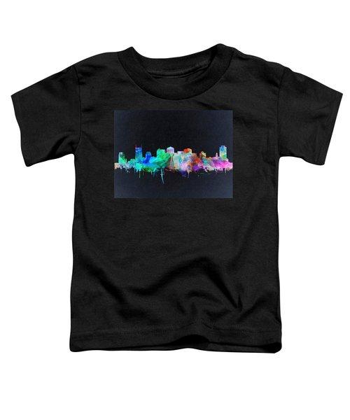 Nashville Skyline Watercolor 10 Toddler T-Shirt