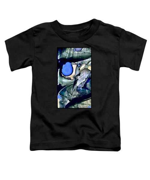 Navy Blue Sage Abstract Alcohol Inks Toddler T-Shirt
