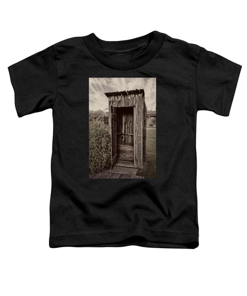 Nevada City Ghost Town Outhouse - Montana Toddler T-Shirt