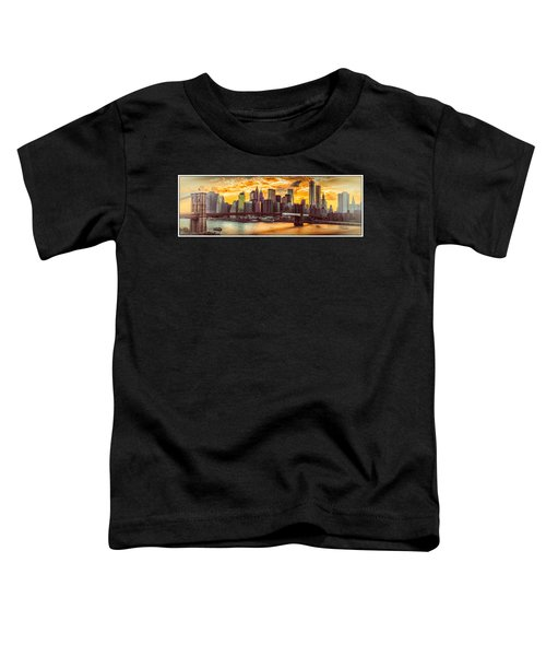 New York City Summer Panorama Toddler T-Shirt
