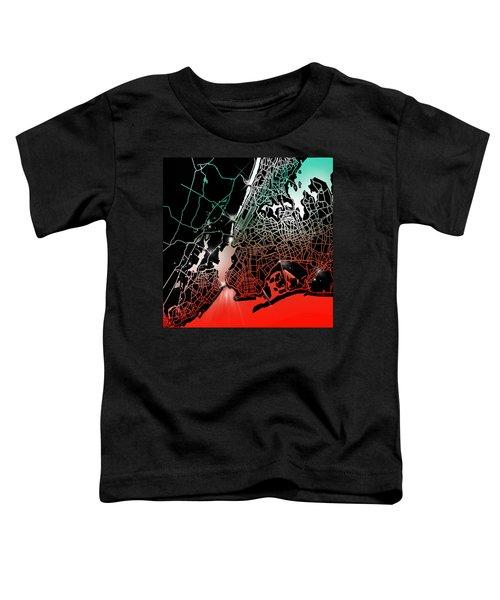 New York Map Gradient Toddler T-Shirt