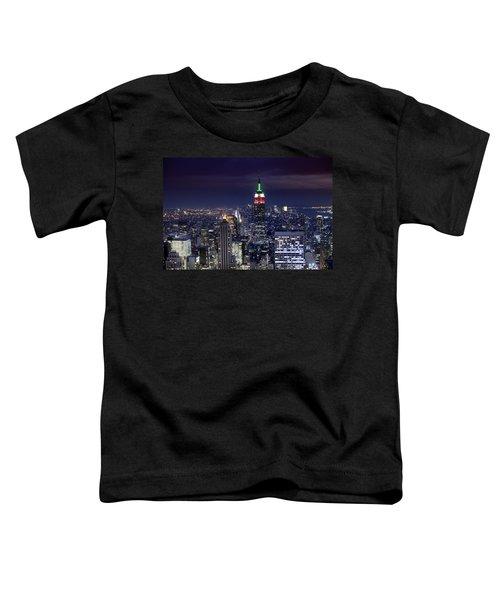 New York Skyline Night Color Toddler T-Shirt