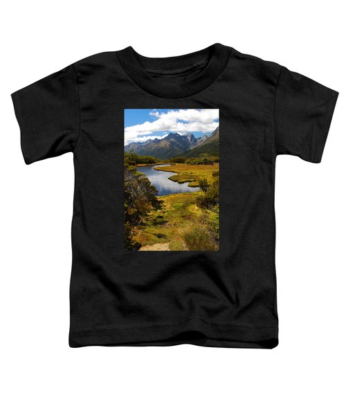 New Zealand Alpine Landscape Toddler T-Shirt