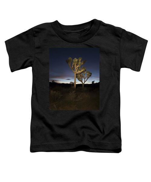 Night Light Painting Joshua Tree National Park Toddler T-Shirt