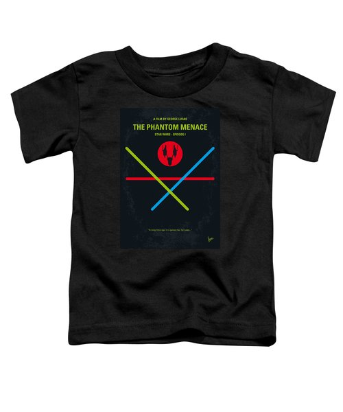 No223 My Star Wars Episode I The Phantom Menace Minimal Movie Poster Toddler T-Shirt