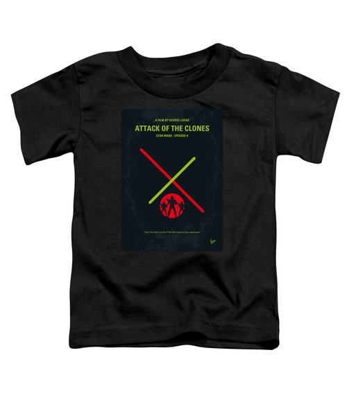 No224 My Star Wars Episode II Attack Of The Clones Minimal Movie Poster Toddler T-Shirt