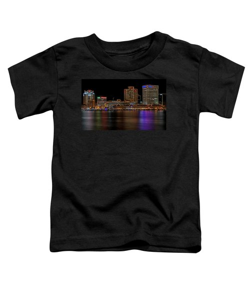 Norfolk Virginia Skyline Toddler T-Shirt