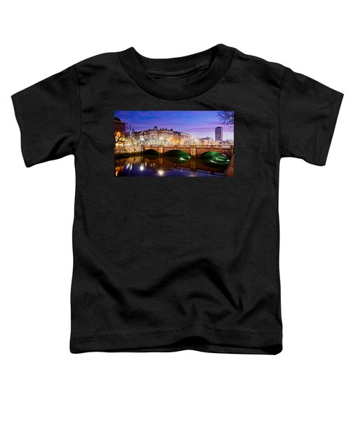 O Connell Bridge At Night - Dublin Toddler T-Shirt