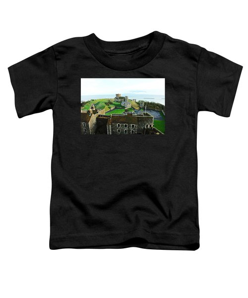 Oil Painting - Aerial View Of Dover Castle Toddler T-Shirt